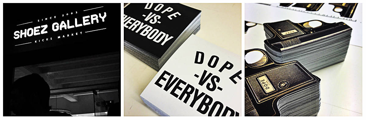 SHOEZ GALLERY DOPE BOUTIQUE LYON STICKERS ADHESIF ARTPRINT IMPRESSION NUMERIQUE