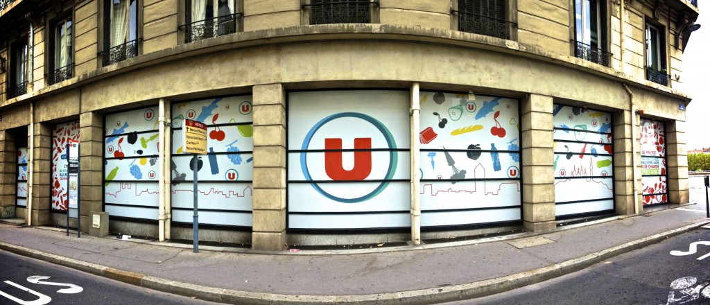 Super U Artprint vitrine supermarché
