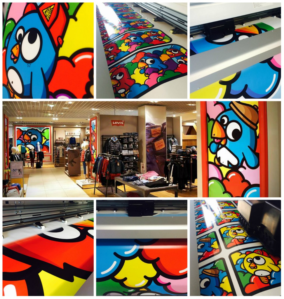 birdy kids artprint stickers galeries lafayette