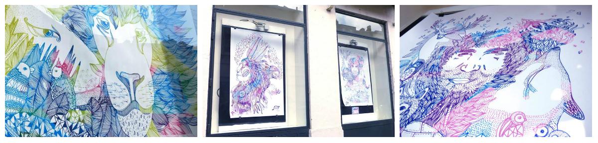 simean artprint illustration impression grand format lyon exposition art